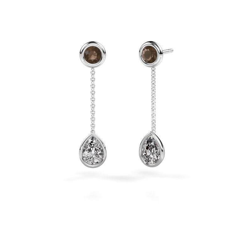 Oorhangers Ladawn 950 platina lab-grown diamant 0.65 crt