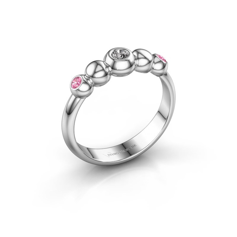Stackable ring Lily 585 white gold zirconia 2.5 mm