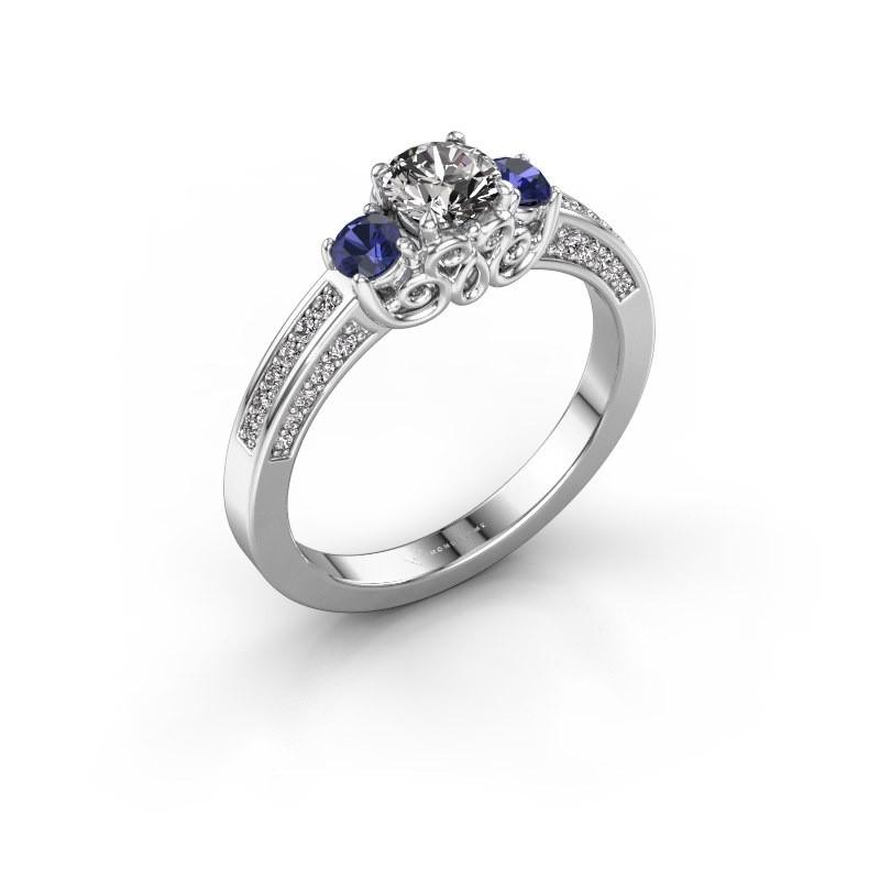 Verlovingsring Donna 585 witgoud diamant 0.687 crt