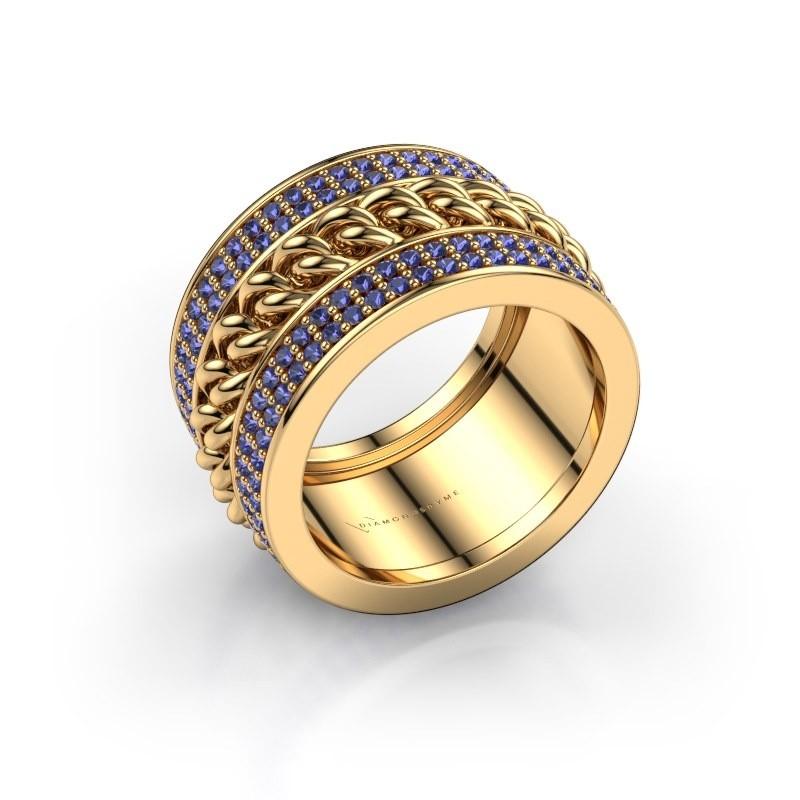 Ring Jayda 375 Gold Saphir 1.2 mm