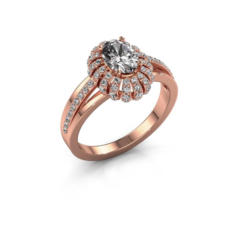 Engagement ring Twila 375 rose gold diamond 0.80 crt