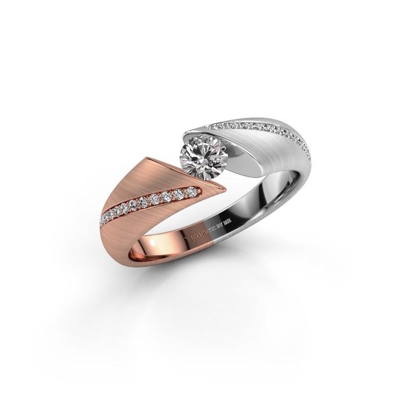 Engagement ring Hojalien 2 585 rose gold diamond 0.42 crt