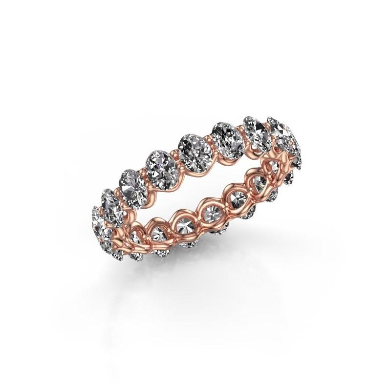 Ring Kirsten OVL 4x3 375 rosé goud diamant 2.85 crt