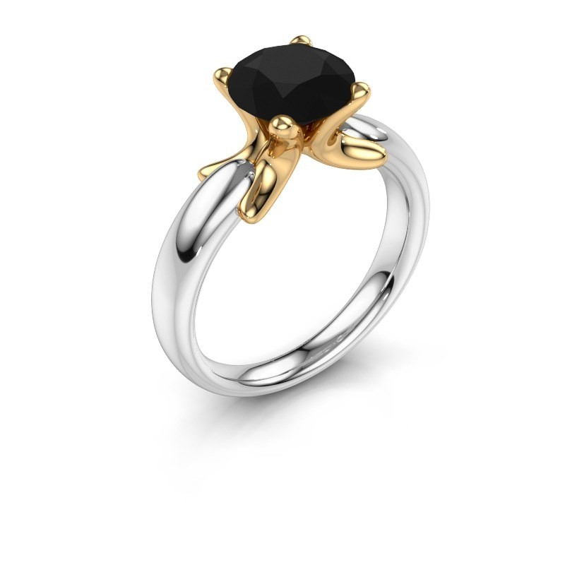 Ring Jodie 585 white gold black diamond 2.40 crt