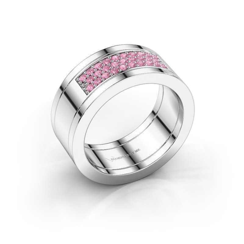 Ring Marita 3 925 silver pink sapphire 1.3 mm