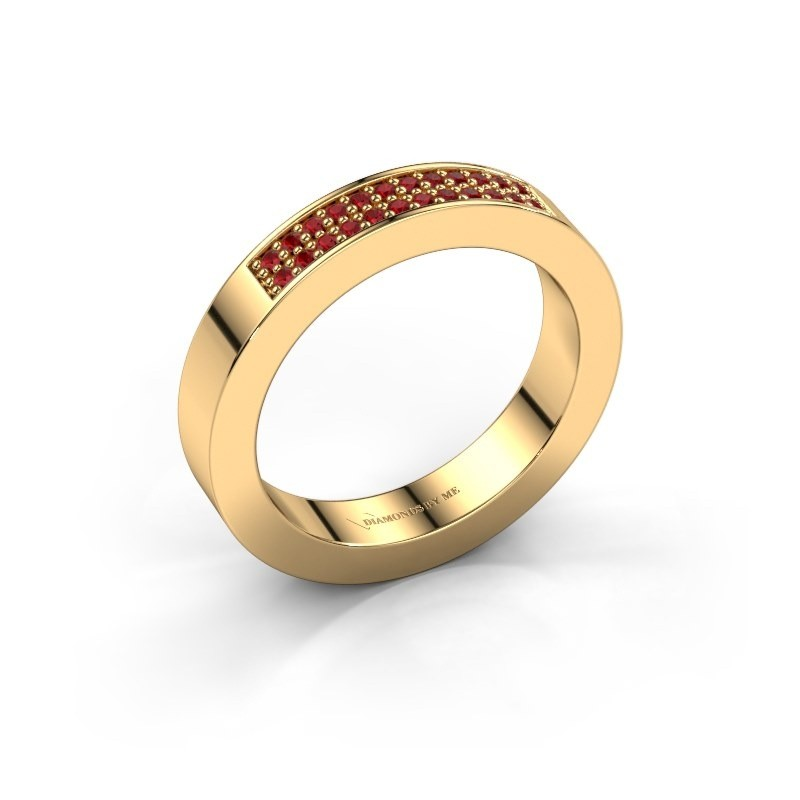 Stackable ring Catharina 1 375 gold ruby 1.1 mm
