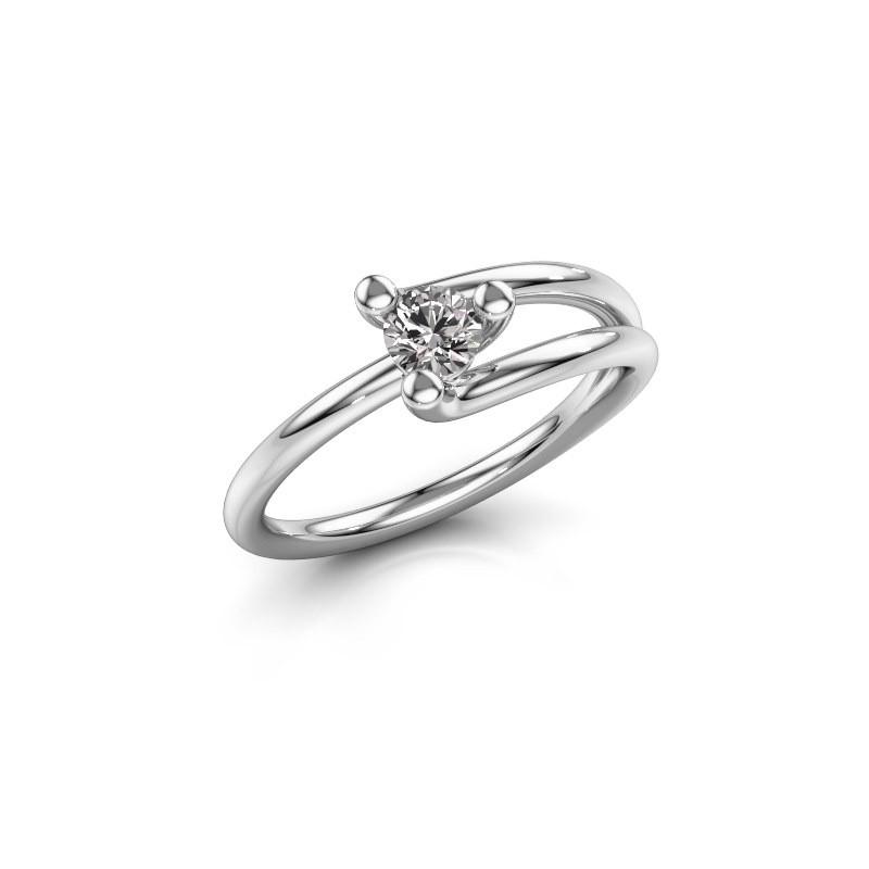Ring Roosmarijn 585 Weißgold Diamant 0.25 crt