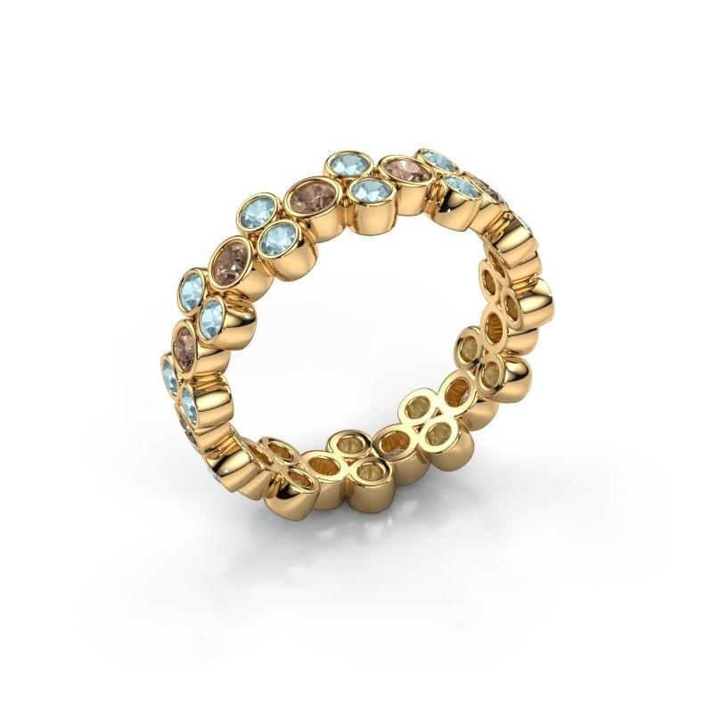 Ring Victoria 375 gold brown diamond 0.66 crt