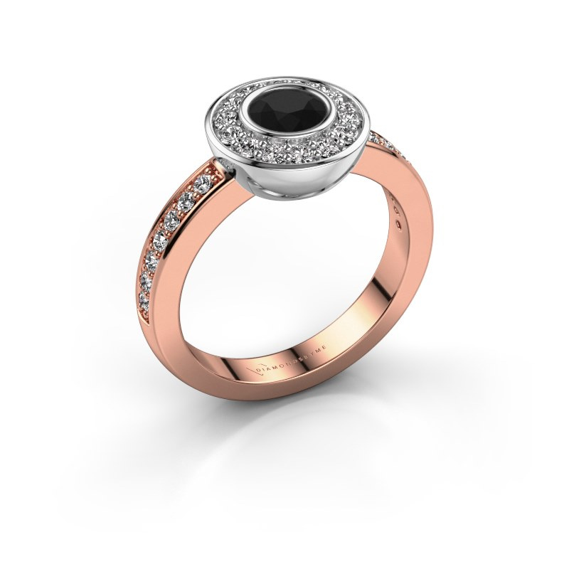 Ring Ivy 585 Roségold Schwarz Diamant 1.02 crt