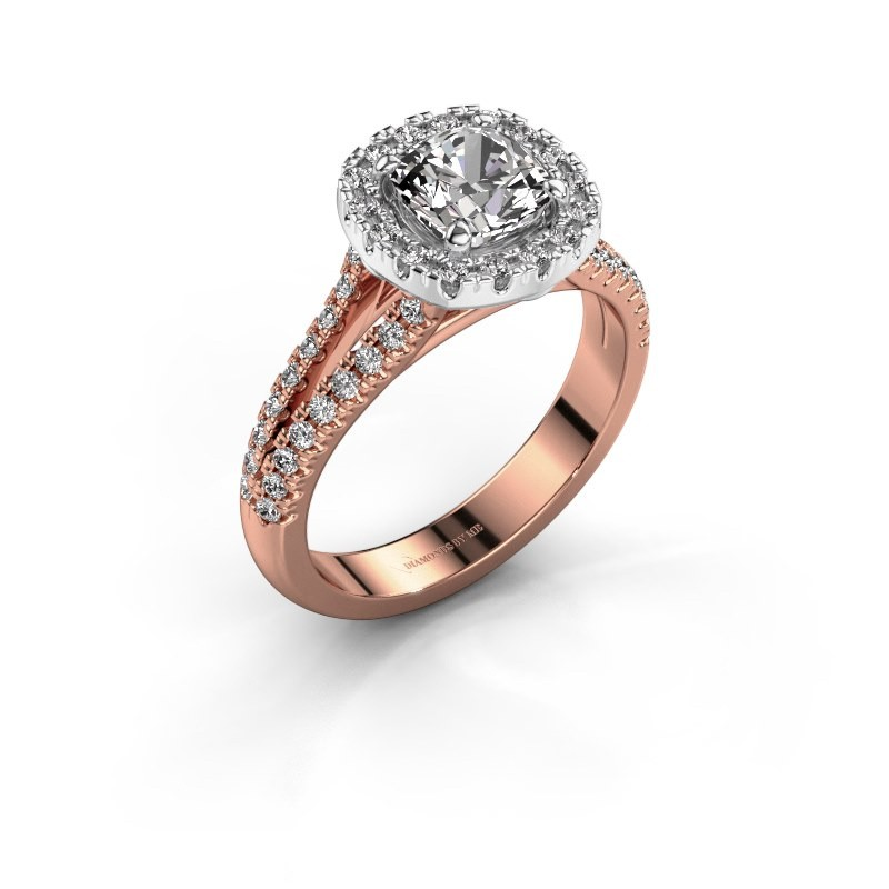 Engagement ring Francesca 585 rose gold diamond 1.89 crt