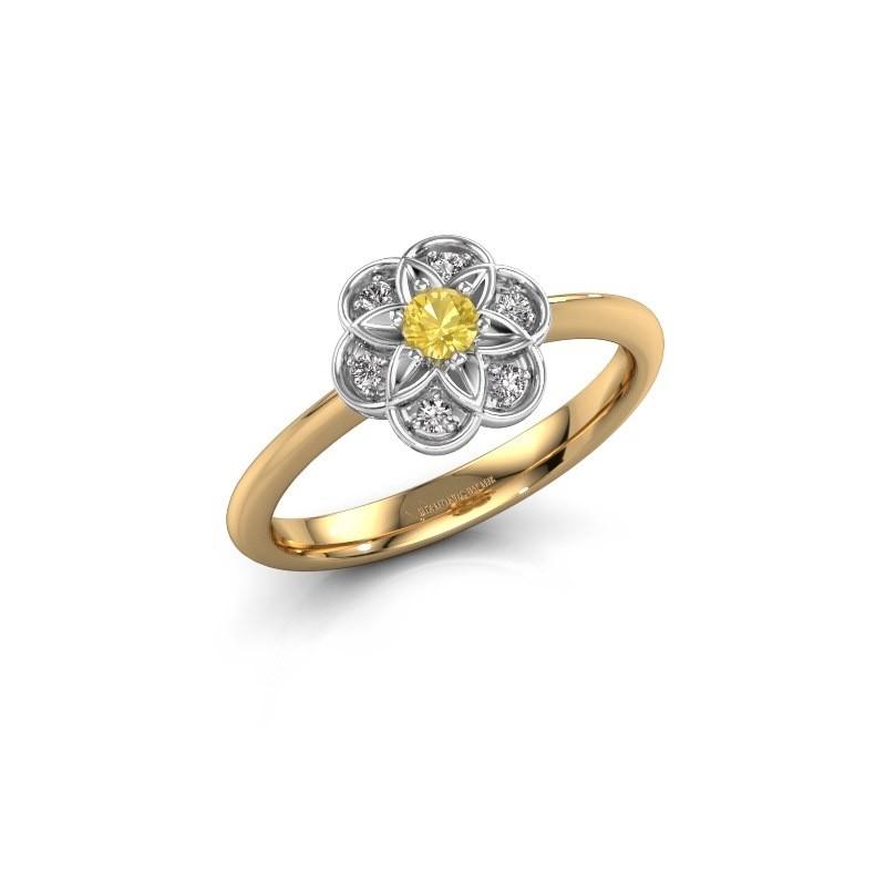 Verlovingsring Uma 585 goud gele saffier 3 mm