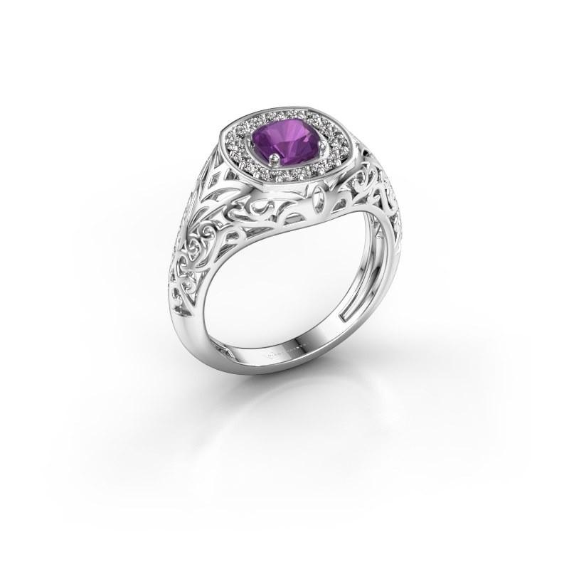Men's ring Quinten 950 platinum amethyst 5 mm