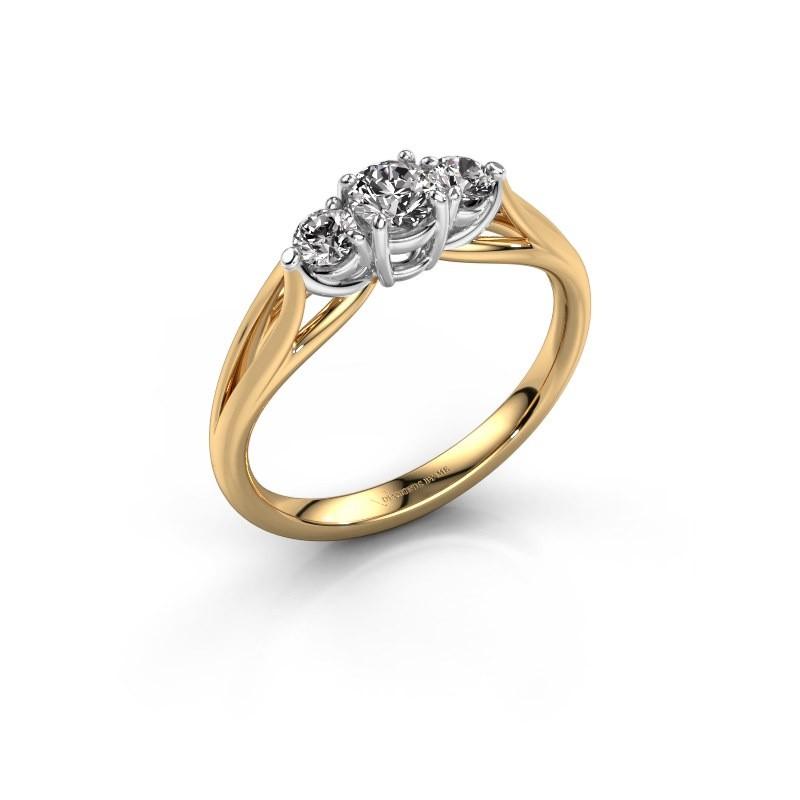 Verlovingsring Amie RND 585 goud diamant 0.45 crt