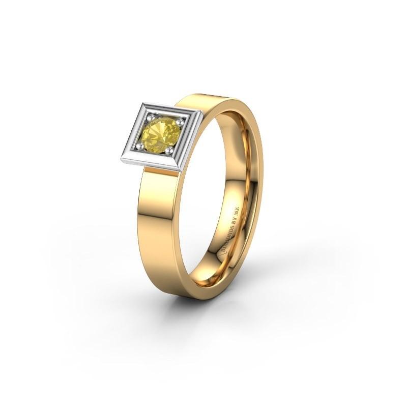 Trouwring WH2112L14A 585 goud gele saffier ±4x1.7 mm