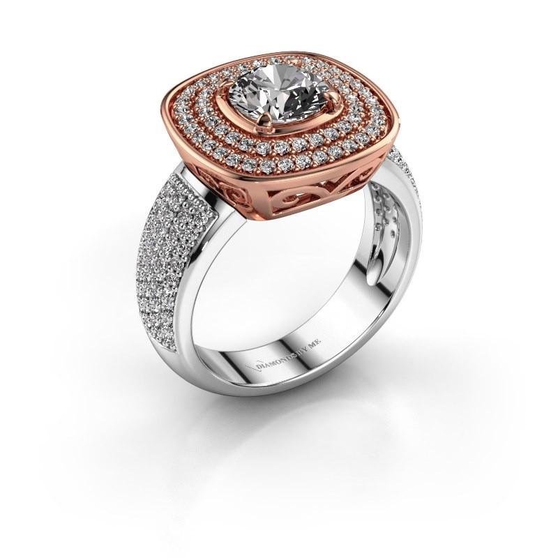 Ring Eliana 585 rosé goud diamant 1.54 crt