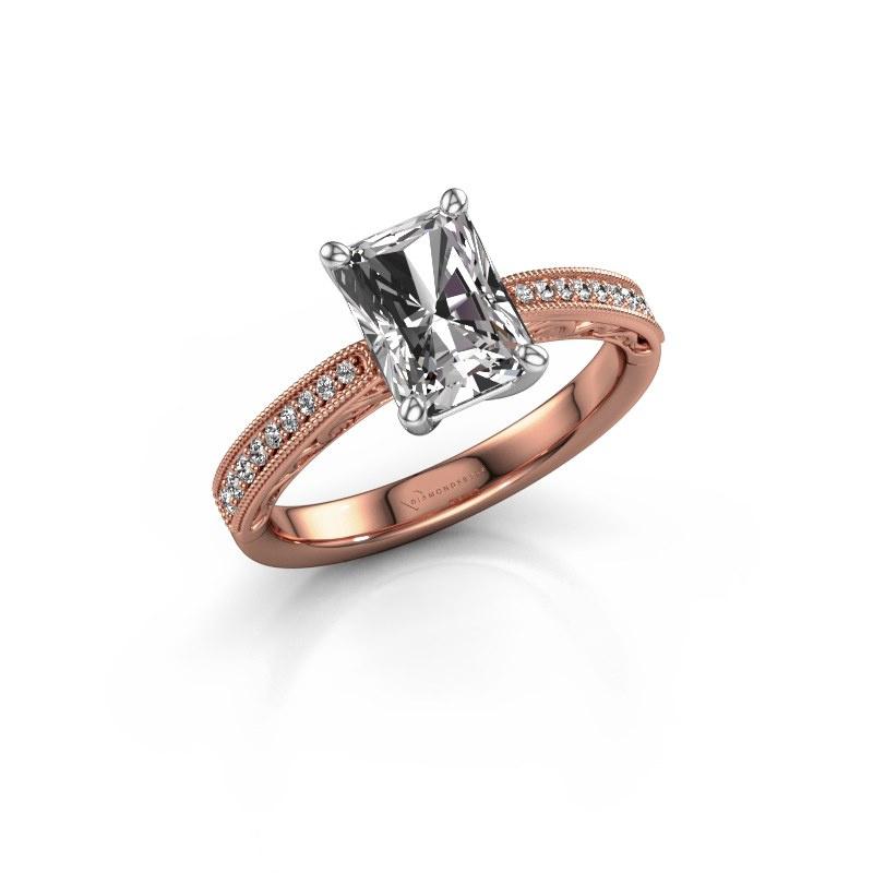 Verlovingsring Shonta RAD 585 rosé goud diamant 2.13 crt