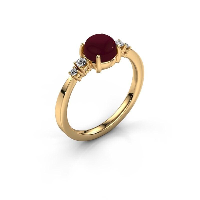 Ring Regine 585 goud granaat 6 mm