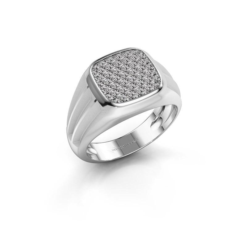Pinky ring Robbert 375 white gold lab grown diamond 0.558 crt