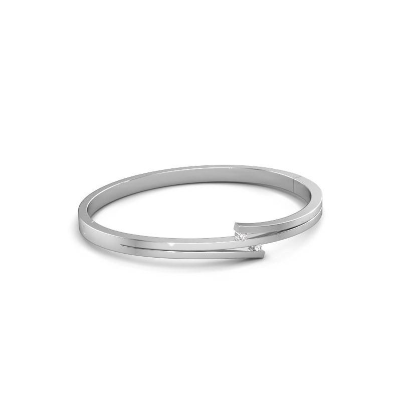 Armband Roxane 585 witgoud zirkonia 2 mm