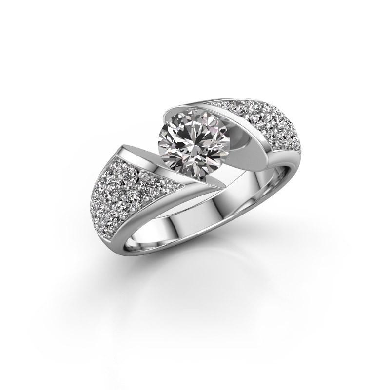 Engagement ring Hojalien 3 585 white gold diamond 1.625 crt