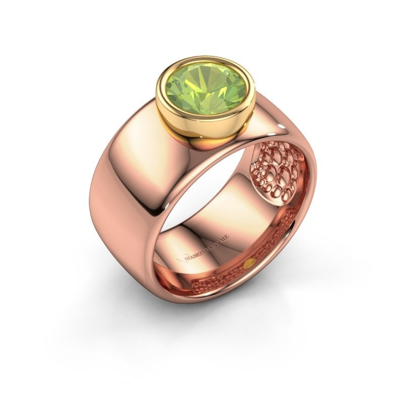 Ring Klarinda 585 rose gold peridot 7 mm