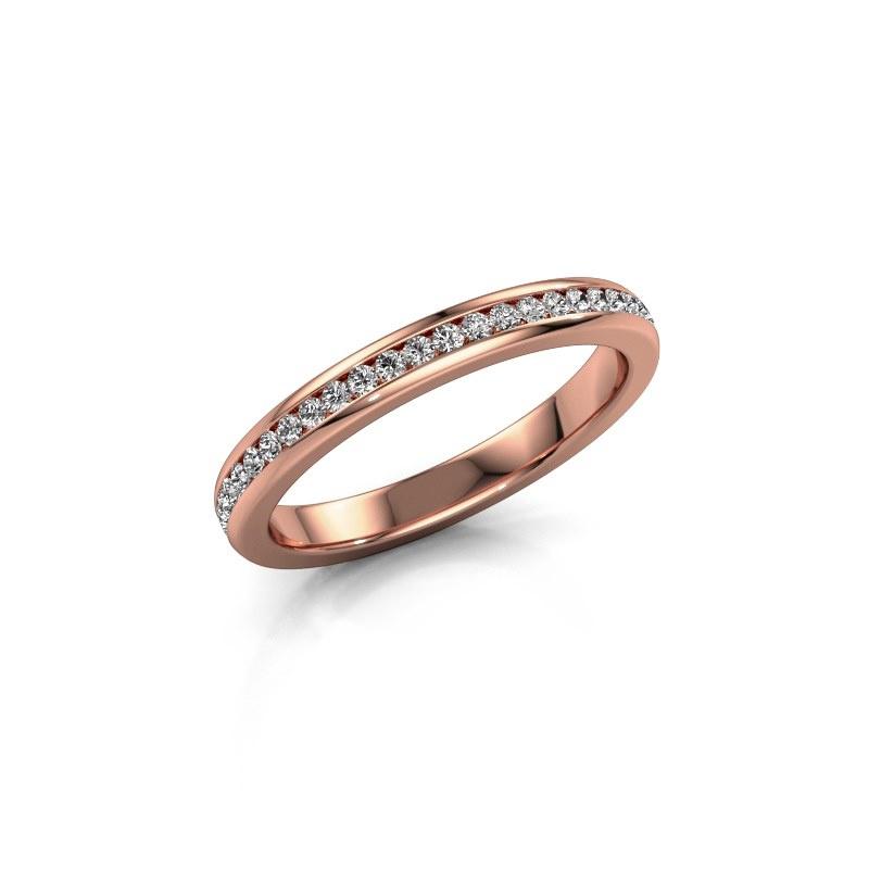 Aanschuifring Lura 1 375 rosé goud diamant 0.49 crt