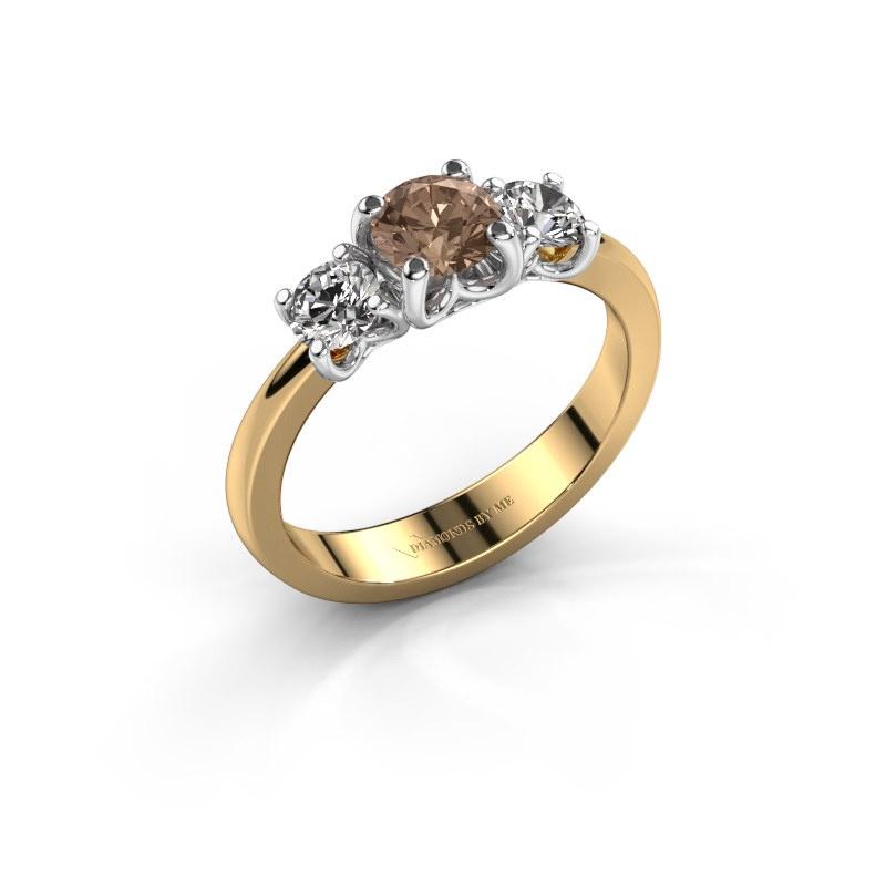 Verlobungsring Detra 585 Gold Braun Diamant 1.00 crt