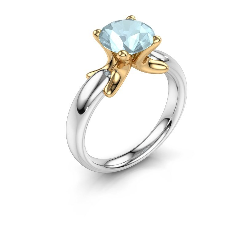 Ring Jodie 585 white gold aquamarine 8 mm