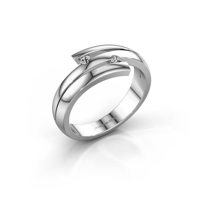 Ring Dena 925 zilver lab-grown diamant 0.06 crt
