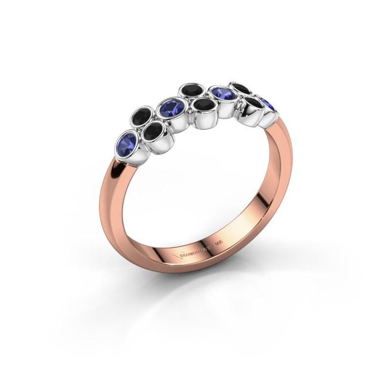 Ring Kayleigh 585 Roségold Saphir 2.4 mm