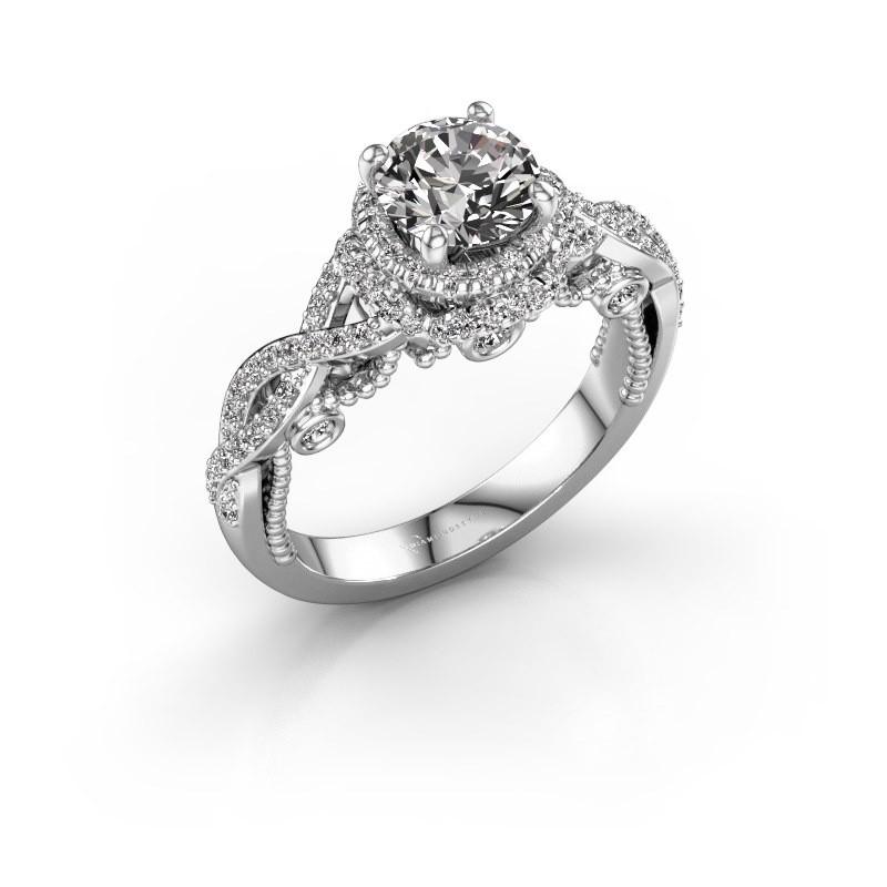 Verlobungsring Leora 950 Platin Diamant 1.438 crt