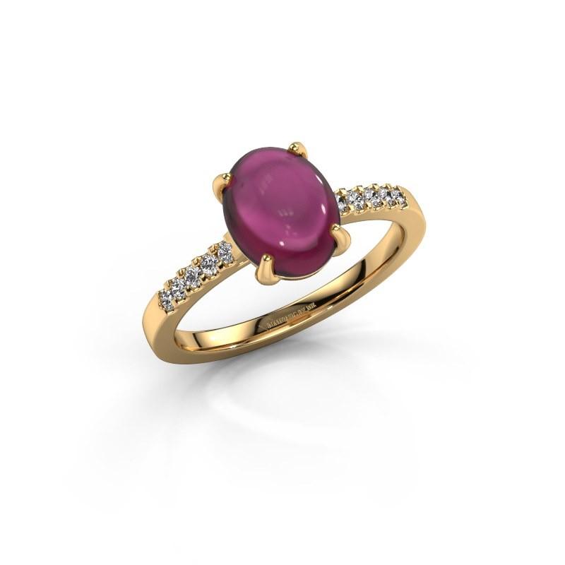 Ring Mallie 2 585 goud rhodoliet 9x7 mm