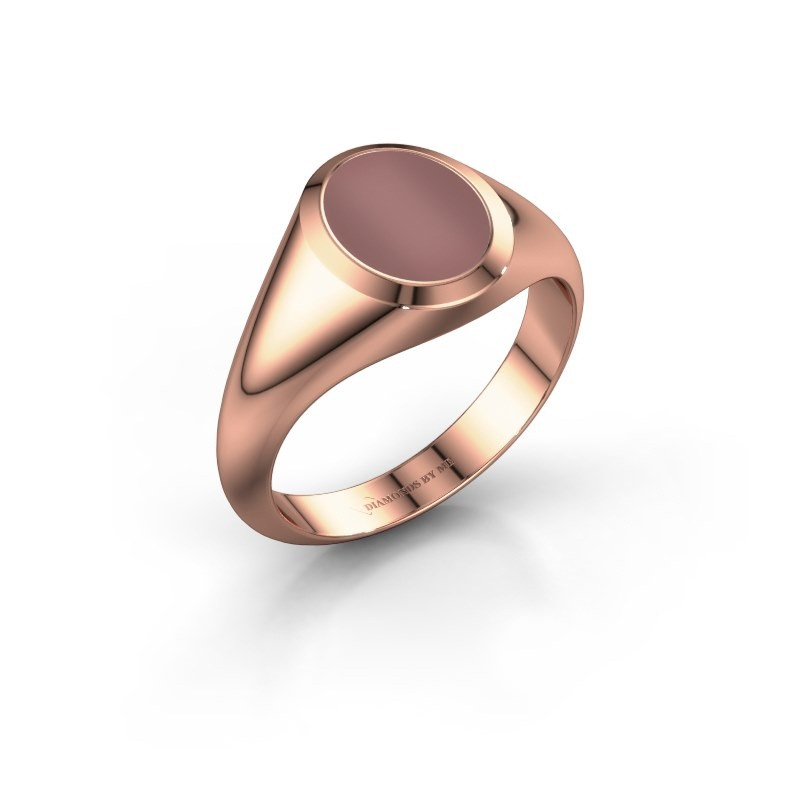 Signet ring Evon 1 375 rose gold carnelian 10x8 mm