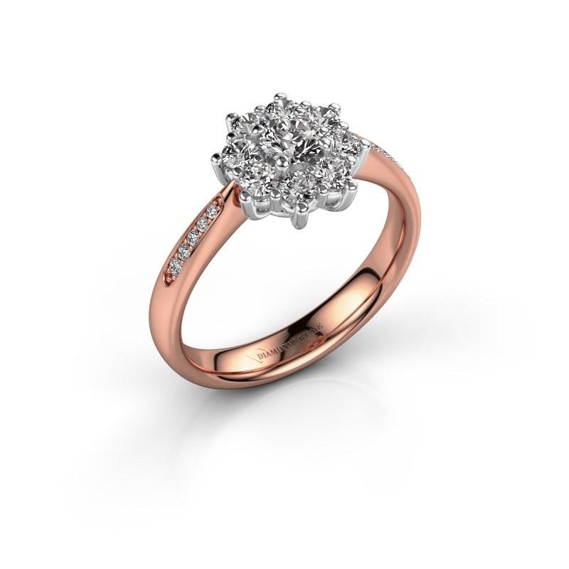 Verlovingsring Carolyn 2 585 rosé goud lab-grown diamant 0.15 crt