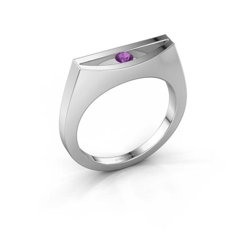 Ring Milou 925 silver amethyst 3 mm