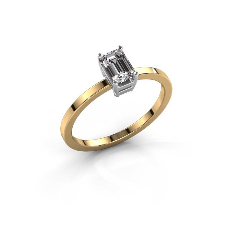 Verlovingsring Denita 1 585 goud zirkonia 6x4 mm