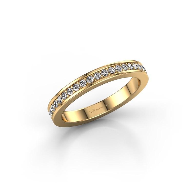 Stackable ring SRH0030B20H6 375 gold diamond 0.252 crt