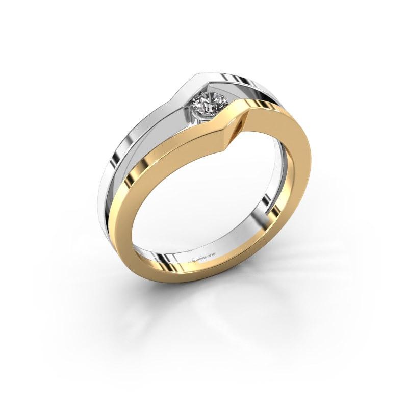 Ring Elize 585 gold zirconia 3.4 mm