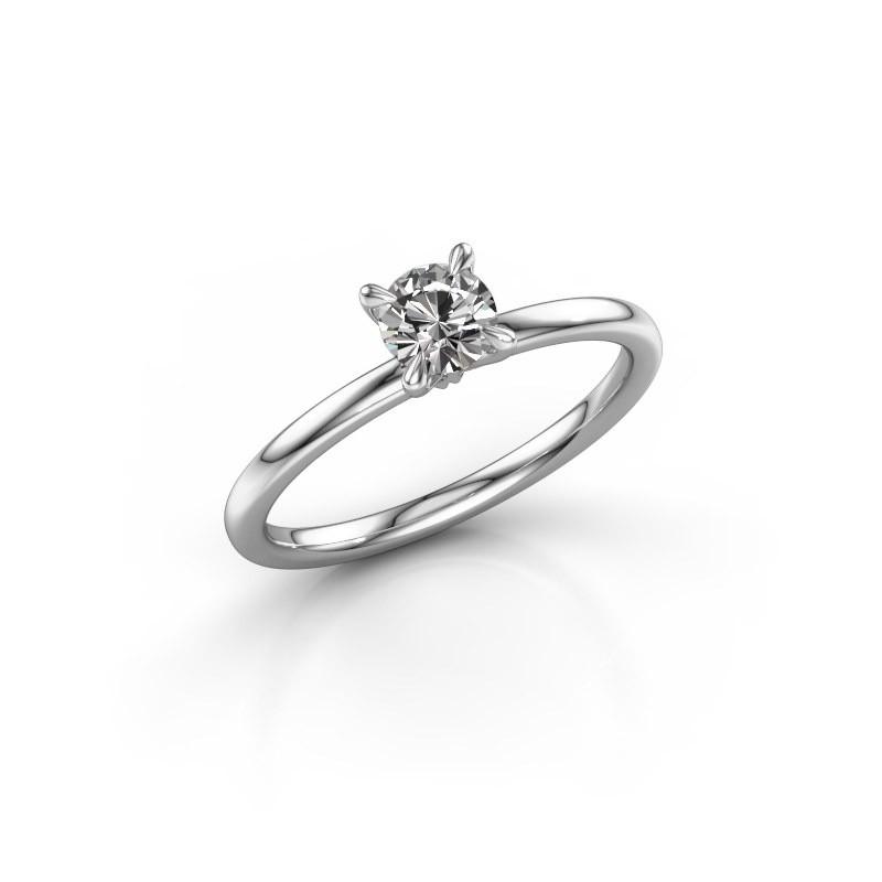 Verlovingsring Crystal RND 1 925 zilver diamant 0.40 crt