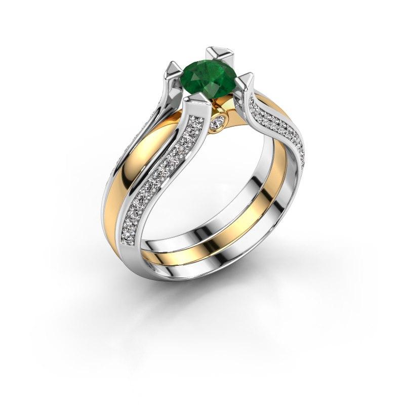 Engagement ring Nadine 585 gold emerald 5 mm