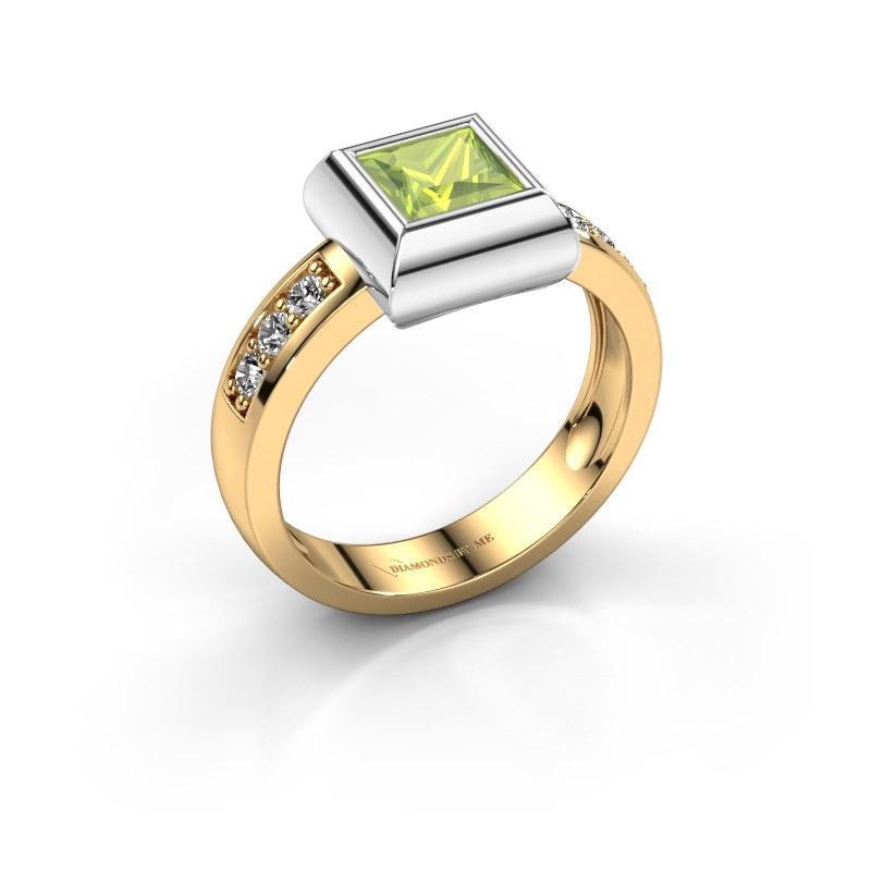 Ring Charlotte Square 585 gold peridot 5 mm