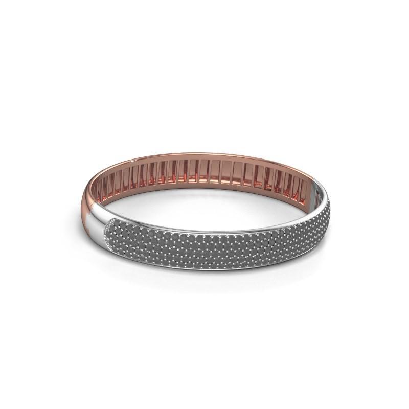 Slavenarmband Emely 10mm 585 rosé goud zwarte diamant 5.226 crt