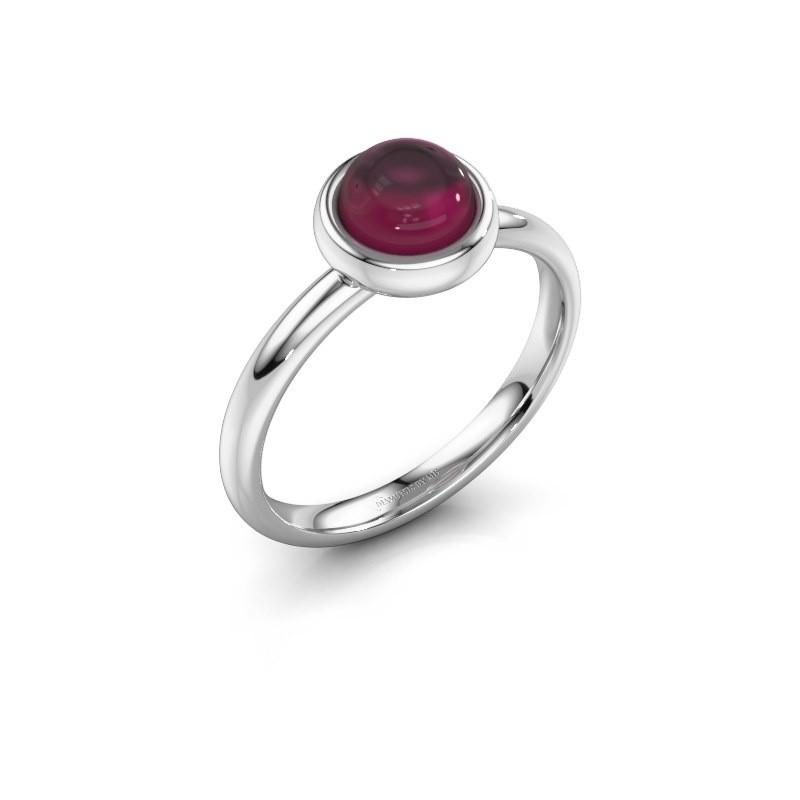Ring Blossom 925 zilver rhodoliet 6 mm