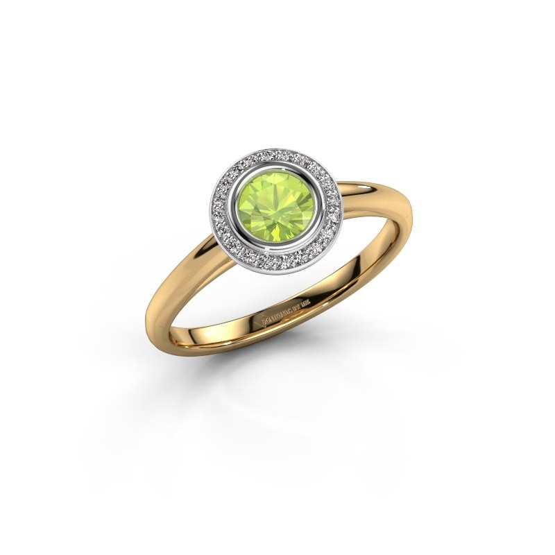 Promise ring Noud 1 RND 585 gold peridot 4.7 mm