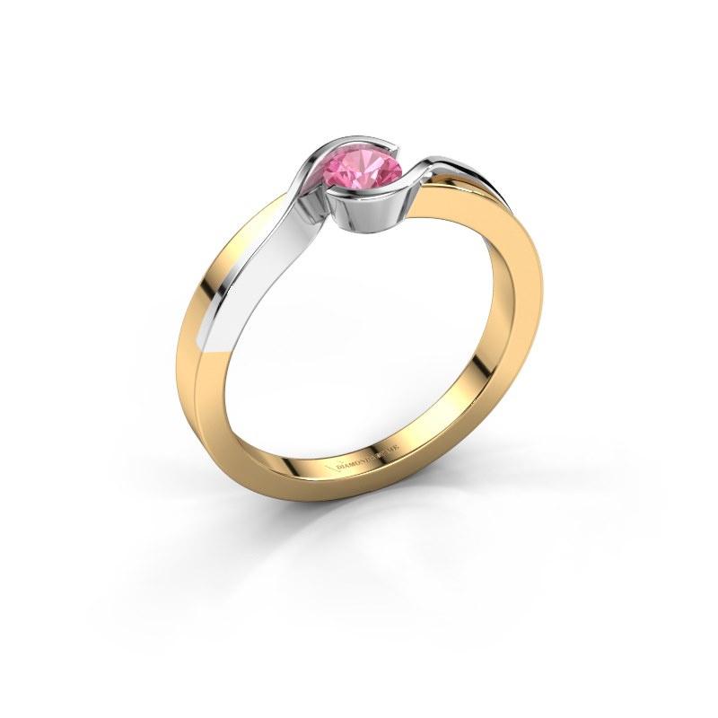 Ring Lola 585 Gold Pink Saphir 4 mm
