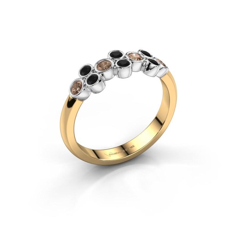 Bague Kayleigh 585 or jaune diamant brun 0.436 crt