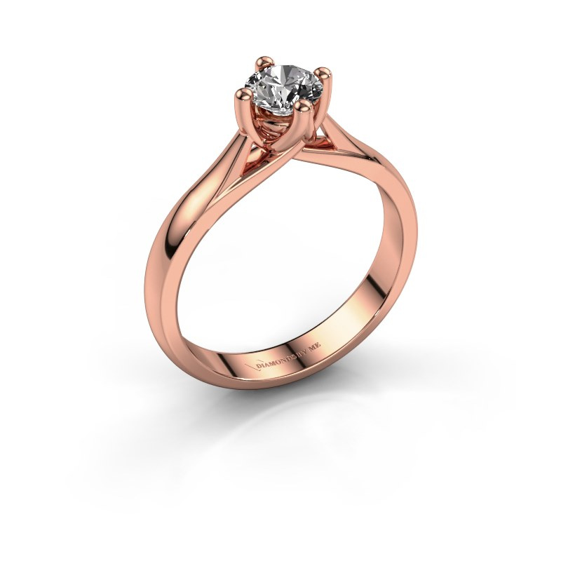 Verlobungsring Janne 585 Roségold Diamant 0.40 crt