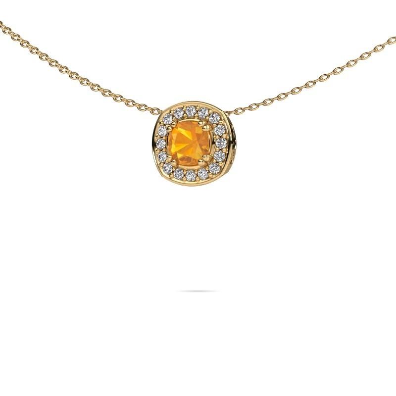 Ketting Carolina 585 goud citrien 5 mm