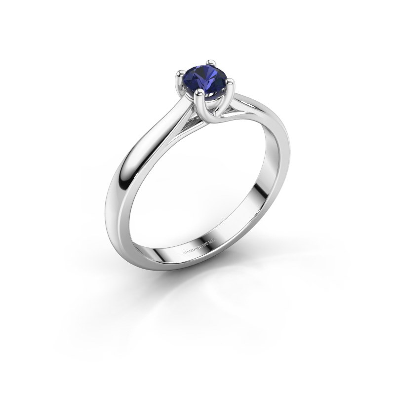 Engagement ring Mia 1 925 silver sapphire 4 mm