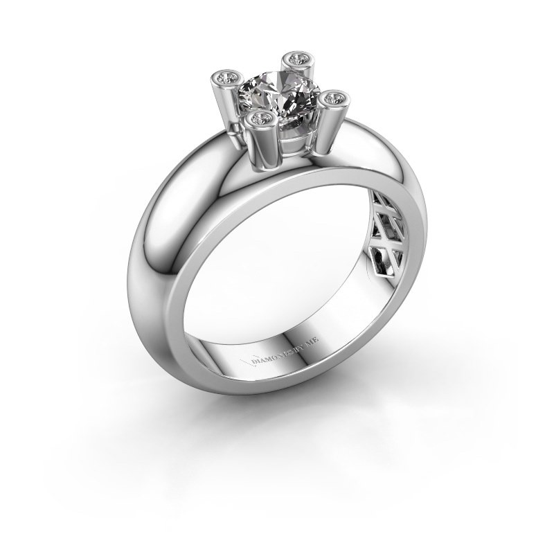Ring Cornelia Round 585 white gold lab-grown diamond 0.50 crt
